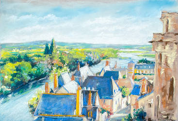 View on the Loire by Vassantha