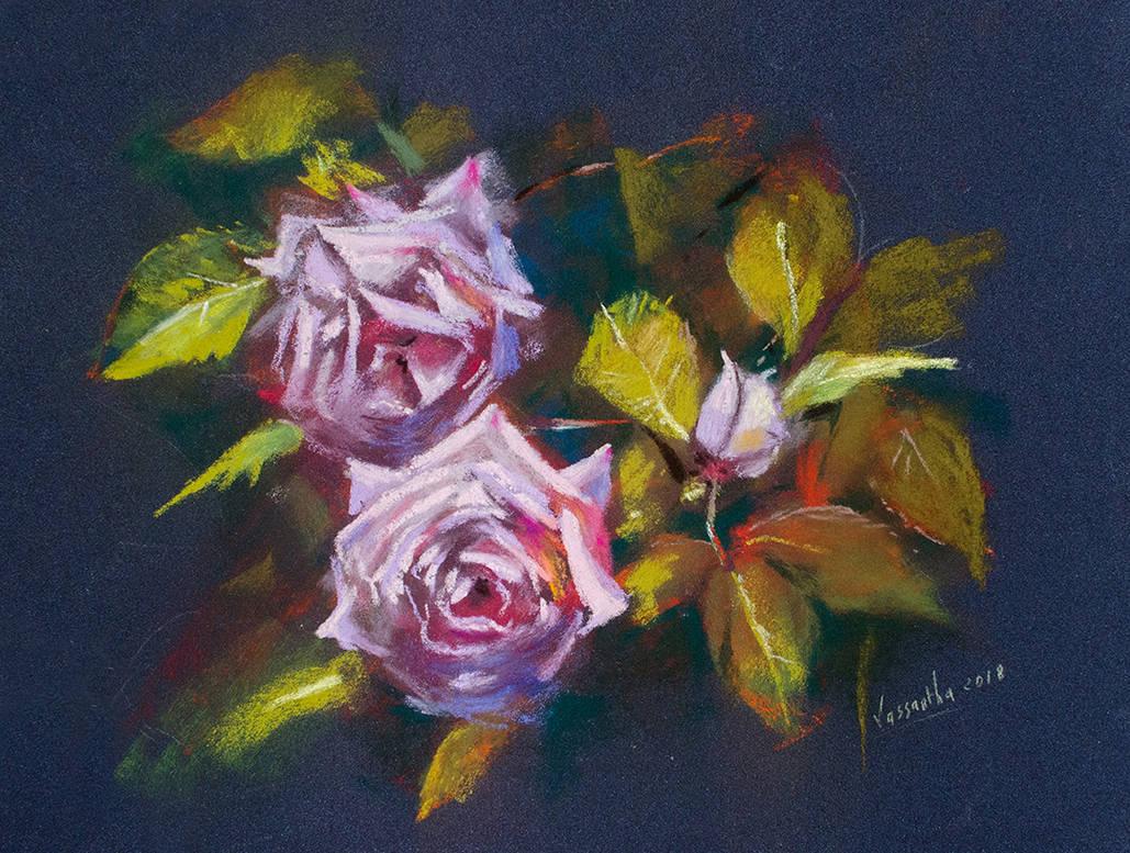 Roses in Cilaos by Vassantha
