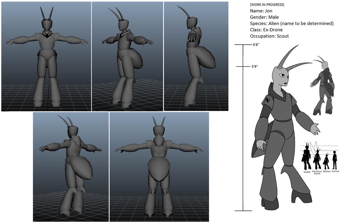 Jon 3D T-Pose (WIP) by SaltESweet