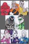 War of Light sketch cards