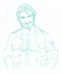 Day 7 - Magnum P.I pencils by BloodySamoan