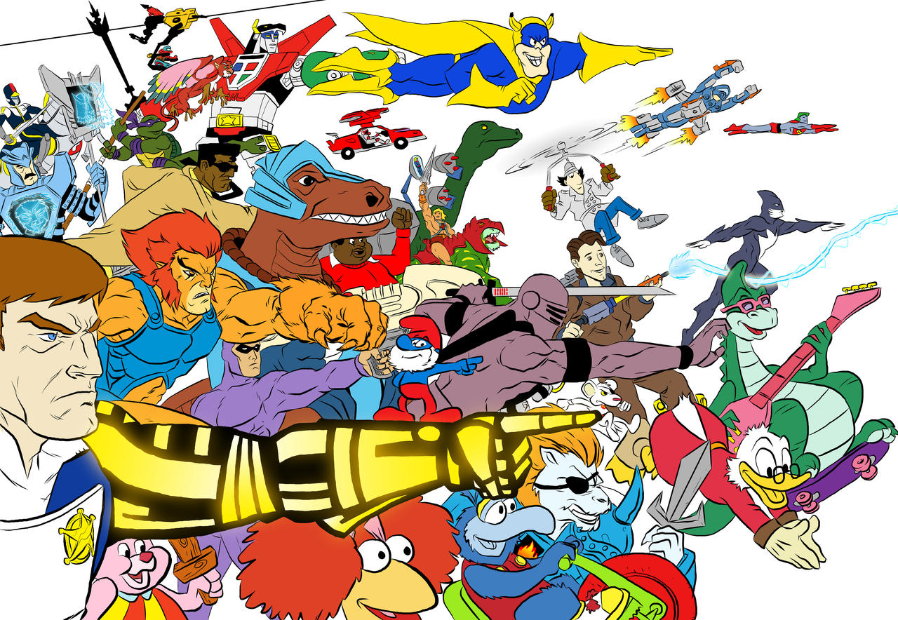 80s Cartoons Assemble Flats By Bloodysamoan Fan Art Cartoons Comics