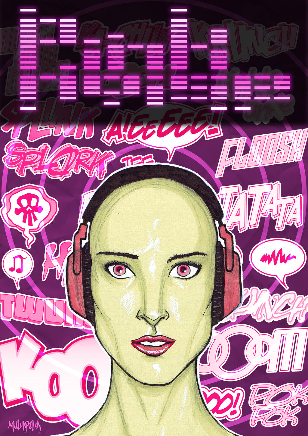 White Noise Book Cover : Pink noise zine cover idea by bloodysamoan on deviantart
