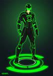 Green Lantern Tron costume