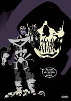Black Lantern Thanos by BloodySamoan