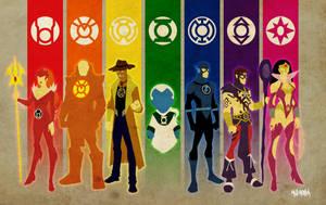 New Guardians Lantern Corps by BloodySamoan