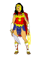 Wonder Woman redesign by BloodySamoan