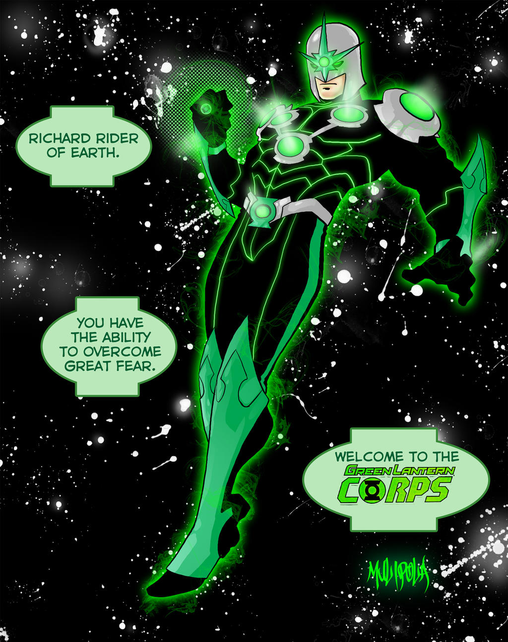 Nova - Green Lantern by BloodySamoan