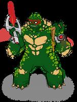 Ra'phy'el - Alien Ninja Turtle by BloodySamoan