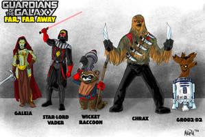 Guardians of the Galaxy Far, Far Away by BloodySamoan