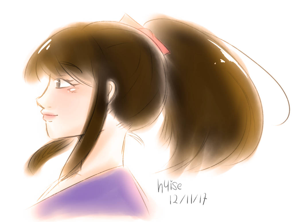 side profile sketch and practice by h4ise