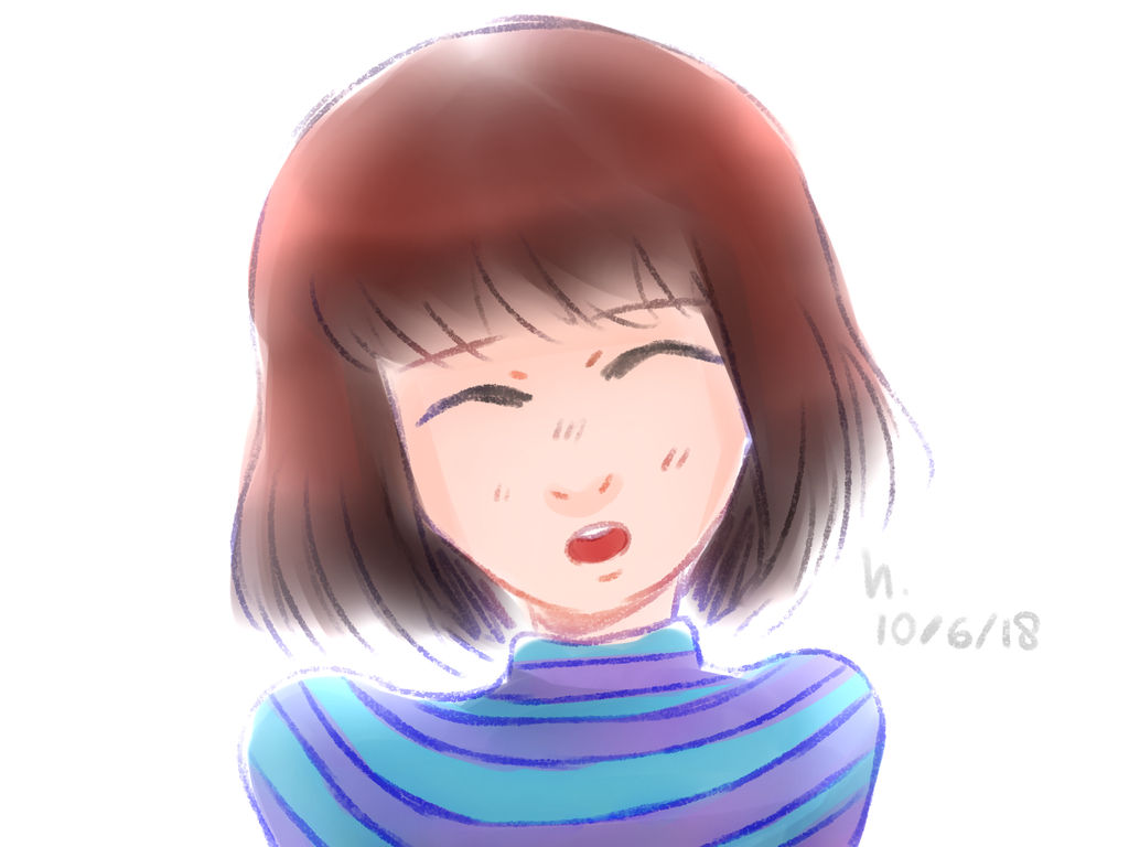 some frisk drawing. by h4ise