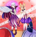 Sagume and Miko! The Admiration of Capes!