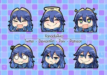 Lucina Discord Emojis! (Fire Emblem) (COmmission)
