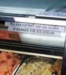 Do not tap the glass
