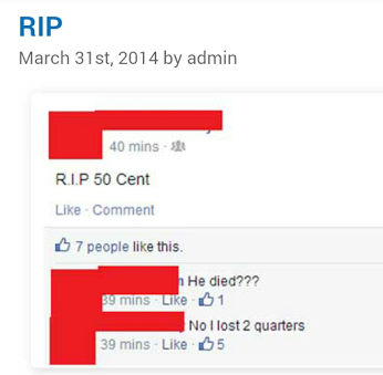 R.I.P. 50 Cent by cosenza987