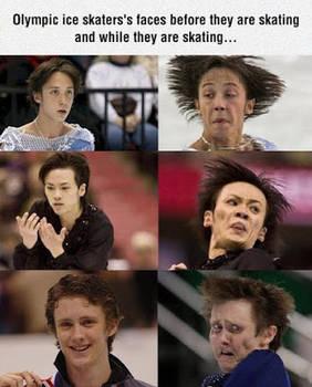 Faces while skating