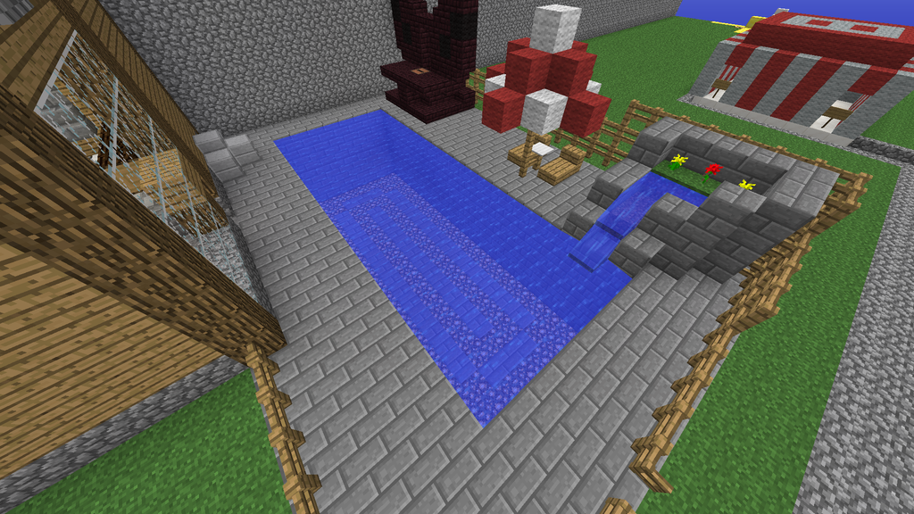Minecraft Backyard With Pool By Flaredblaziken711 On Deviantart
