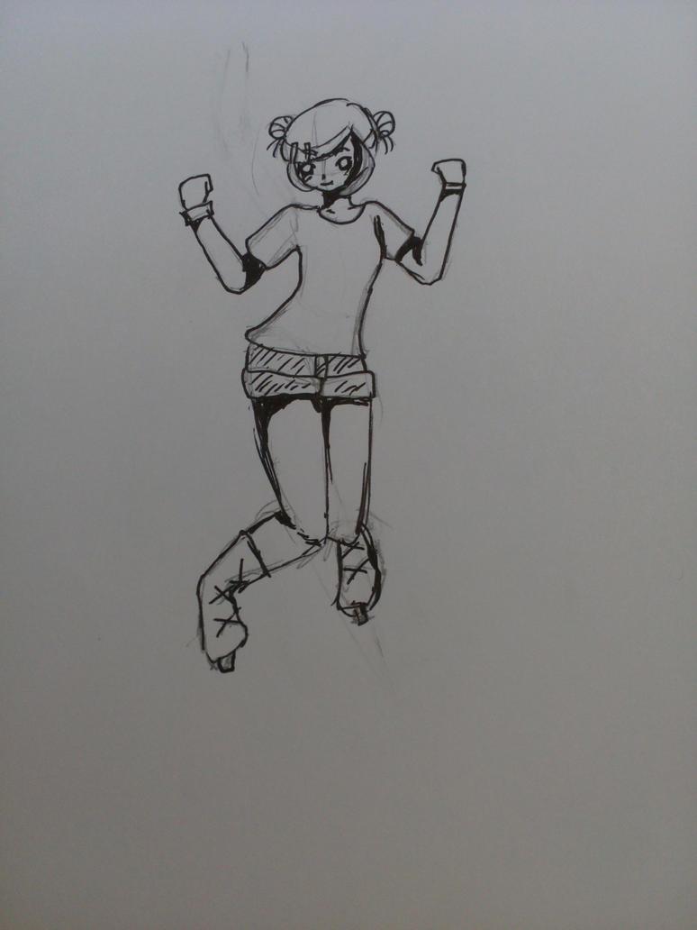 Ice skating girl no.4 by Darkittycat13