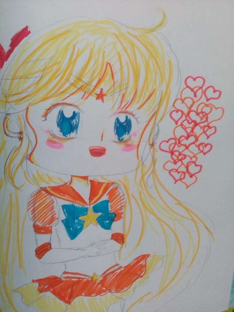 Sailor venus chibi by Darkittycat13