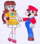 Daisy takes Mario's hand