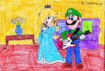 Luigi and Rosalina play Rock Band