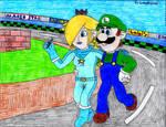 Remake of Luigi x Rosalina Drawing 2