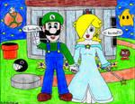 Luigi and Rosalina say Hi to BansheeTK (Request)