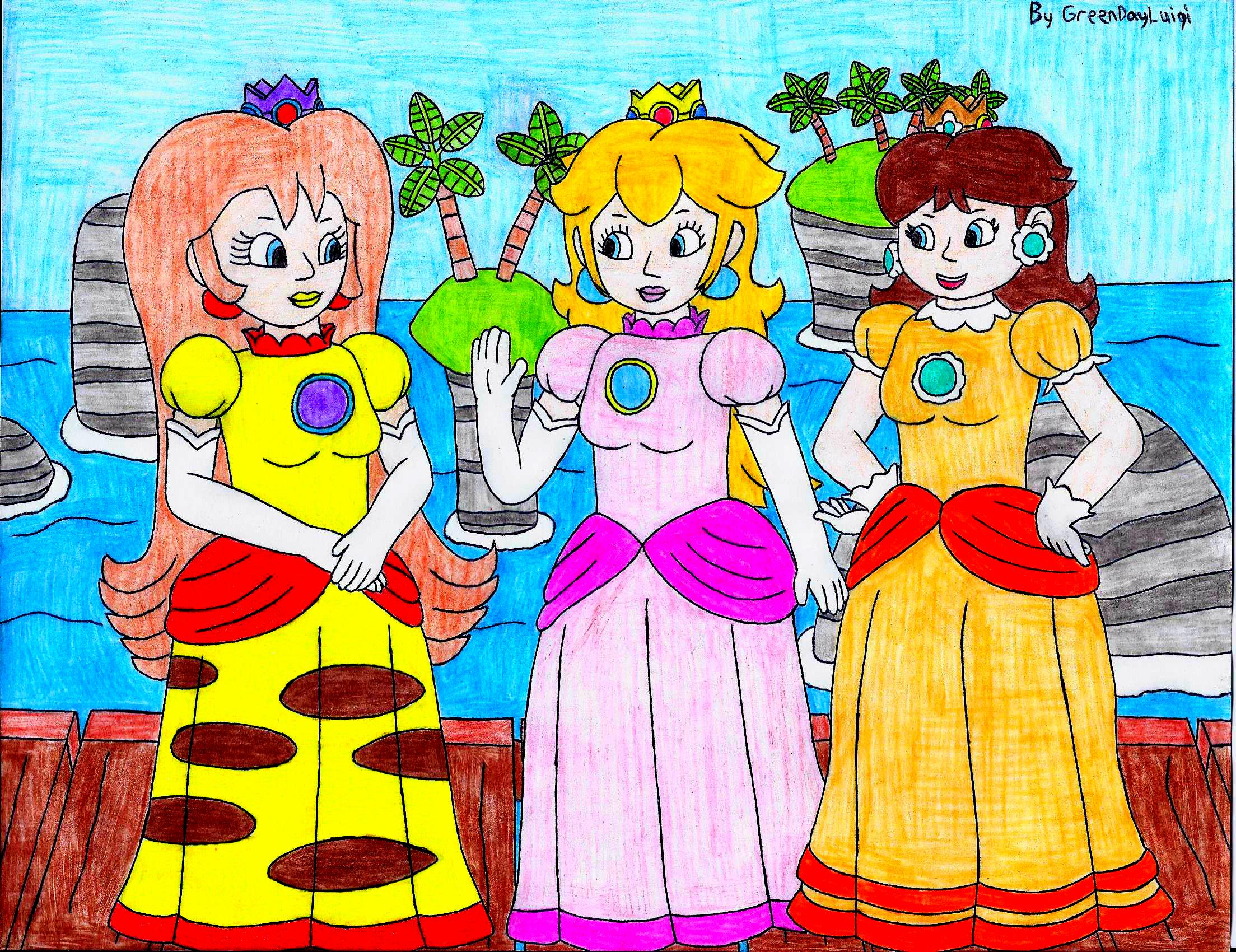 peach and daisy meet pikasia (request)greendayluigi on deviantart
