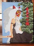 Princess Mononoke Acrylic painting
