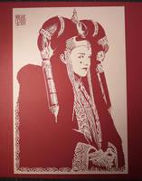 Papercut Art : Queen Amidala by Yuki-Shibaura