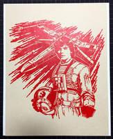 Papercutting Art : Luke Skywalker by Yuki-Shibaura