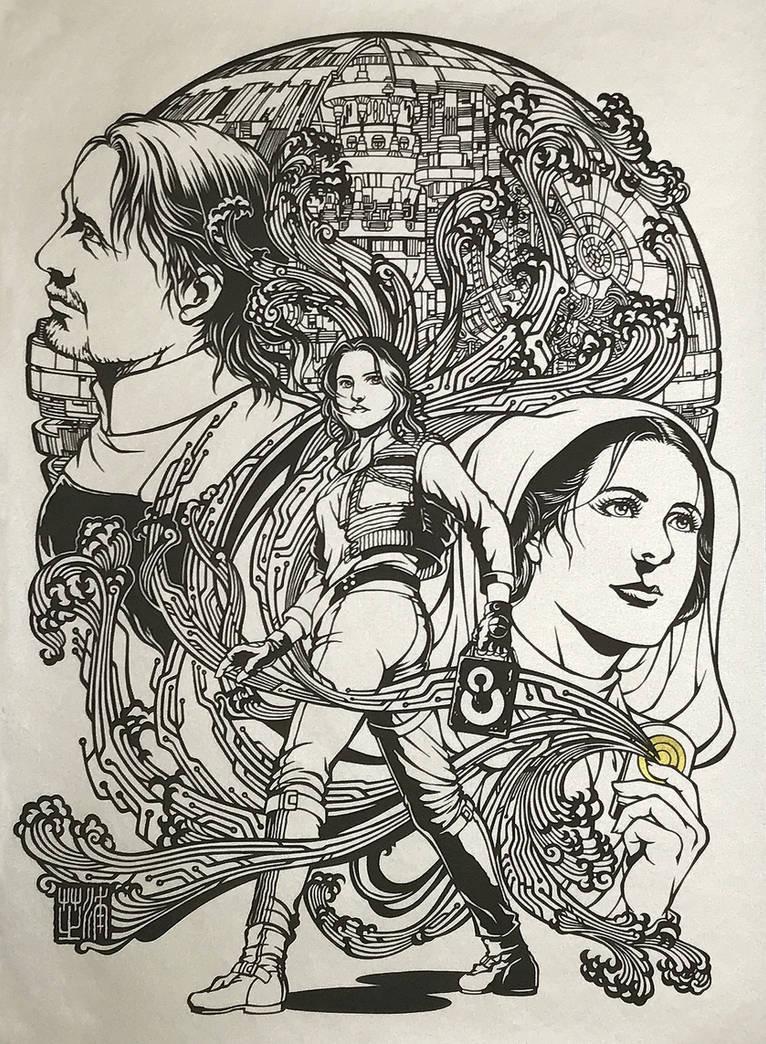 Papercutting Art : The Hope / Rogue One by Yuki-Shibaura
