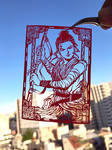 Paper Cutting Art : Rey