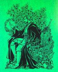 Obi-wan Kenobi : In the mystic Force of the forest by Yuki-Shibaura