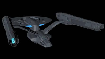 USS Vengeance redone - Rear