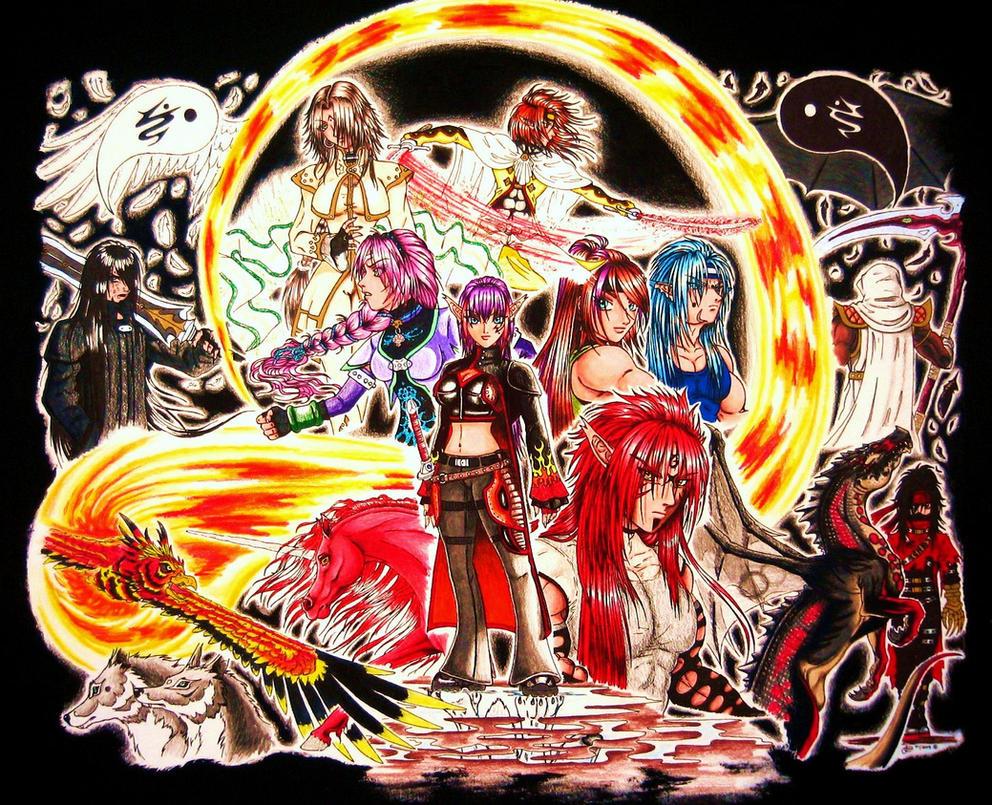 Rain of Fire gang art by LoopGaroux