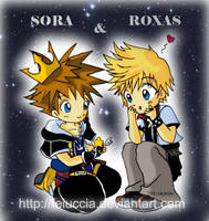 Chibi Sora e Roxas by Feiuccia
