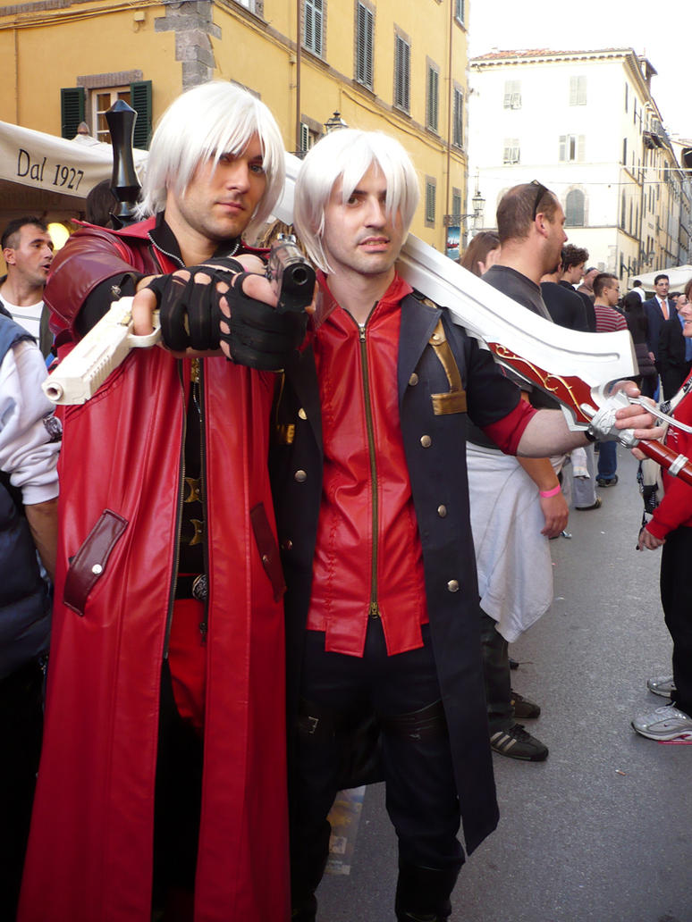 Nero and Dante cosplay by Feiuccia