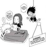 Naruto and Sasuke:I love you 3 by Feiuccia