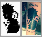 Sasuke and Naruto concept tattoo