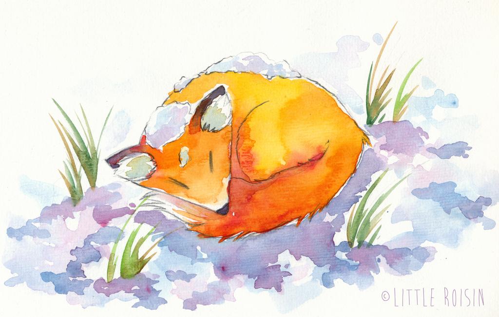 christmas fox by Little-Roisin