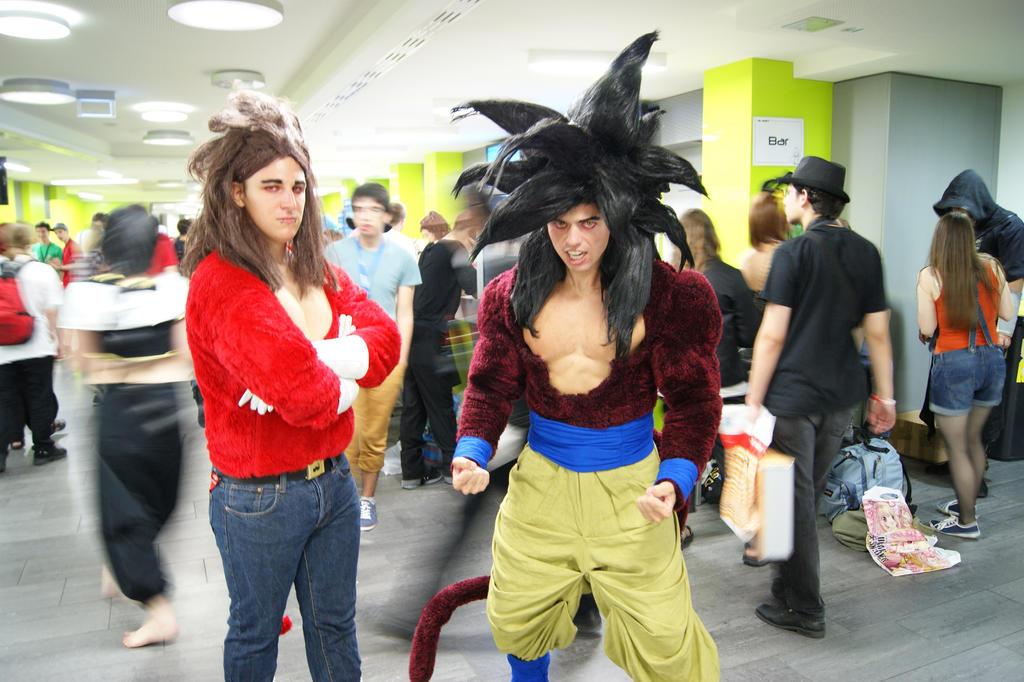 Son Goku Ssj4 And Vegeta Ssj4 At The Aninite 2013 By  sc 1 st  Meningrey & Ssj4 Goku Costume - Meningrey