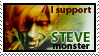 I Support Steve Monster Stamp by CosmicVirus