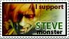 I Support Steve Monster Stamp by CosmicVirus