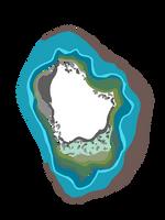 Blue Green Geode Crystal illustration boho modern by anjelakbm