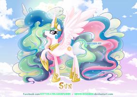 Equestria Elements serie - Princess Celestia - Sun by Nekoi-Echizen