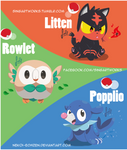 Starters Pokemon Sun and Moon