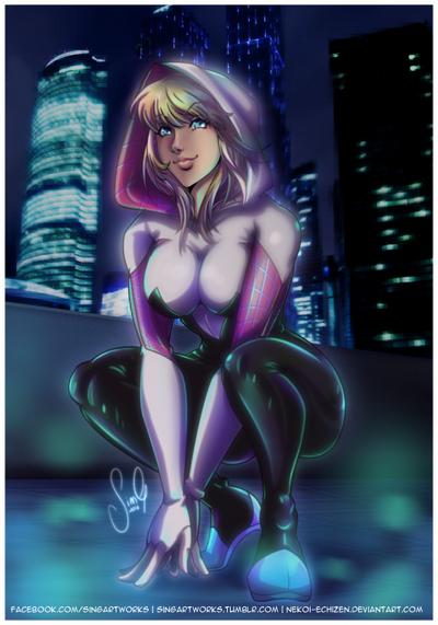 Spider Gwen by Nekoi-Echizen