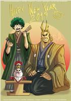 HAPPY NEW YEAR 2019 by Nekoi-Echizen